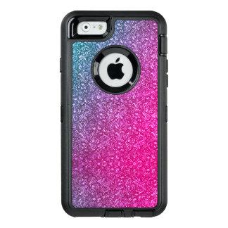 Funda OtterBox Defender Para iPhone 6 Colorido brillante floral azul silenciado del rosa