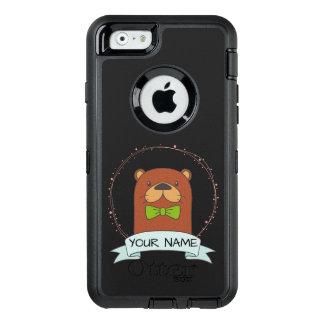 Funda OtterBox Defender Para iPhone 6 Dibujo animado lindo de la nutria personalizado