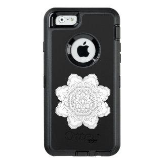 Funda OtterBox Defender Para iPhone 6 ejemplo sagrado de la geometría de la mandala del