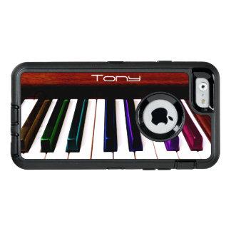 Funda OtterBox Defender Para iPhone 6 El piano colorido de la música cierra el caso del