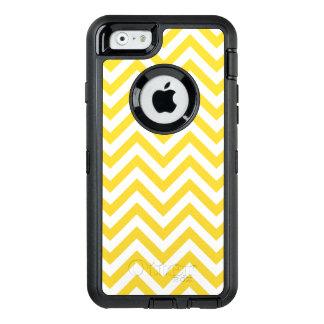 Funda OtterBox Defender Para iPhone 6 El zigzag amarillo y blanco raya el modelo de