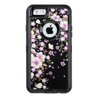 Funda OtterBox Defender Para iPhone 6 Falln que conecta en cascada las flores rosadas