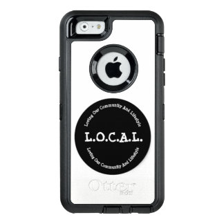 Funda OtterBox Defender Para iPhone 6 L.O.C.A.L. Caja blanco y negro de la nutria del