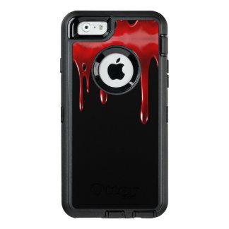 Funda OtterBox Defender Para iPhone 6 La sangre de Falln gotea negro
