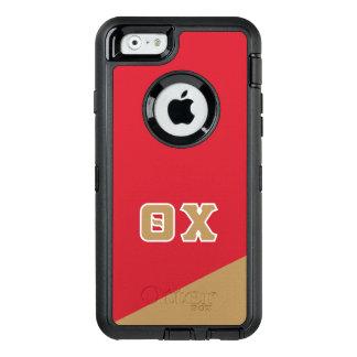 Funda OtterBox Defender Para iPhone 6 Letras del Griego de la ji el | de la theta
