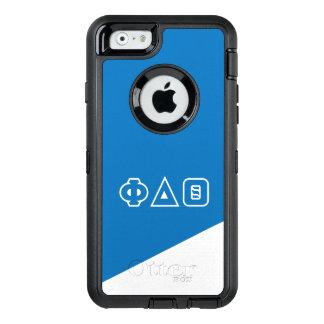 Funda OtterBox Defender Para iPhone 6 Letras del Griego de la theta el | del delta de la