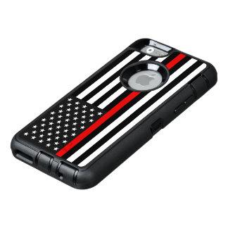 Funda OtterBox Defender Para iPhone 6 Línea roja fina bandera americana