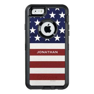 Funda OtterBox Defender Para iPhone 6 Los E.E.U.U. bandera americana premio patriótico
