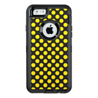 Funda OtterBox Defender Para iPhone 6 Lunares amarillos