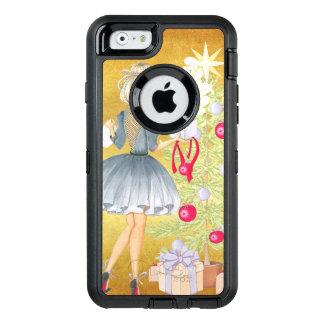 Funda OtterBox Defender Para iPhone 6 Magia del navidad - Blonde que adorna un árbol