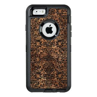FUNDA OtterBox DEFENDER PARA iPhone 6 MÁRMOL DAMASK2 Y BROWN NEGROS (R) DE PIEDRA