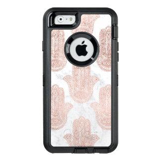 Funda OtterBox Defender Para iPhone 6 Mármol floral del blanco de la mano del hamsa del