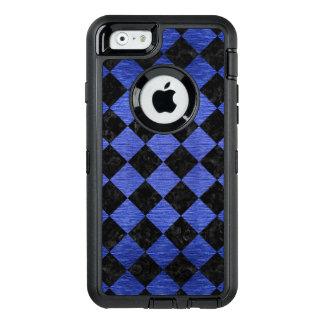 FUNDA OtterBox DEFENDER PARA iPhone 6 MÁRMOL NEGRO SQUARE2 Y METAL CEPILLADO AZUL
