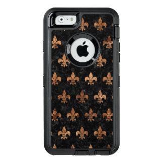 FUNDA OtterBox DEFENDER PARA iPhone 6 MÁRMOL ROYAL1 Y BROWN NEGROS (R) DE PIEDRA