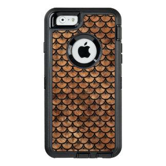 FUNDA OtterBox DEFENDER PARA iPhone 6 MÁRMOL SCALES3 Y BROWN NEGROS (R) DE PIEDRA