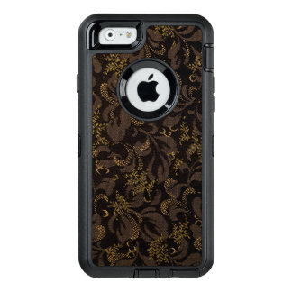 Funda OtterBox Defender Para iPhone 6 Mirada del bordado de Brown
