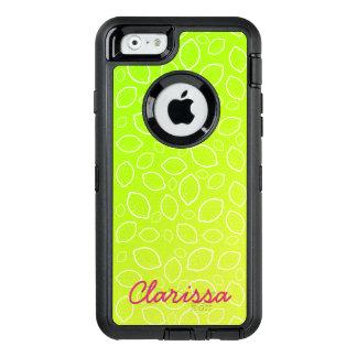 Funda OtterBox Defender Para iPhone 6 modelo amarillo verde fresco del limón del verano