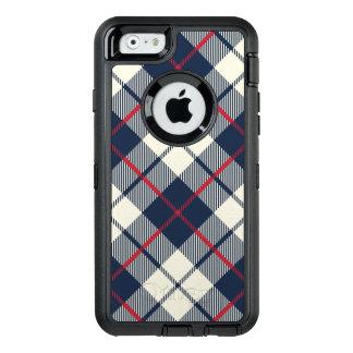 Funda OtterBox Defender Para iPhone 6 Modelo de la tela escocesa de los azules marinos