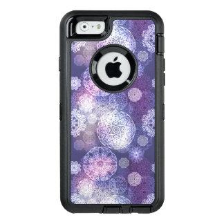 Funda OtterBox Defender Para iPhone 6 Modelo de lujo floral de la mandala