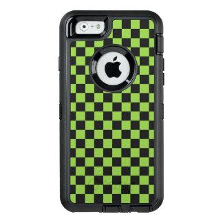 Funda OtterBox Defender Para iPhone 6 Modelo del tablero de damas del verde amarillo