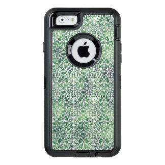 Funda OtterBox Defender Para iPhone 6 Pátina apenada mala hierba de cobre del damasco