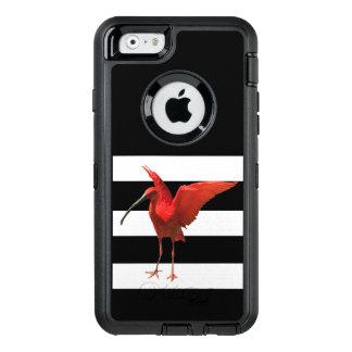Funda OtterBox Defender Para iPhone 6 Pequeña caja roja del teléfono de la cigüeña