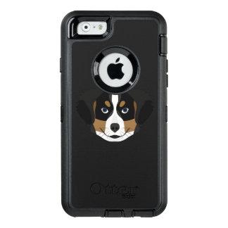 Funda OtterBox Defender Para iPhone 6 Perro de montaña de Bernese del ilustracion