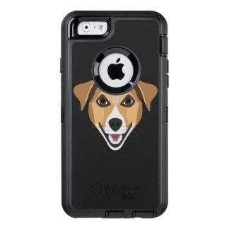 Funda OtterBox Defender Para iPhone 6 Perro Terrier sonriente del ilustracion
