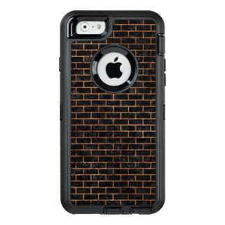 FUNDA OtterBox DEFENDER PARA iPhone 6 PIEDRA NEGRA DEL MÁRMOL BRICK1 Y DE BROWN