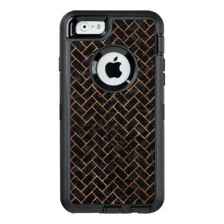 FUNDA OtterBox DEFENDER PARA iPhone 6 PIEDRA NEGRA DEL MÁRMOL BRICK2 Y DE BROWN