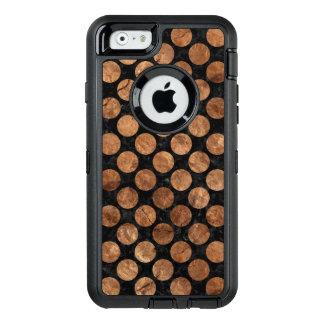 FUNDA OtterBox DEFENDER PARA iPhone 6 PIEDRA NEGRA DEL MÁRMOL CIRCLES2 Y DE BROWN