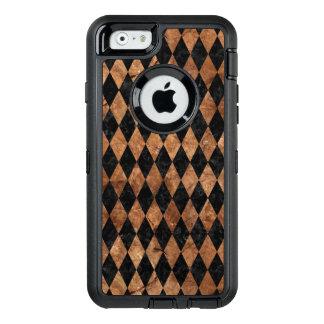 FUNDA OtterBox DEFENDER PARA iPhone 6 PIEDRA NEGRA DEL MÁRMOL DIAMOND1 Y DE BROWN
