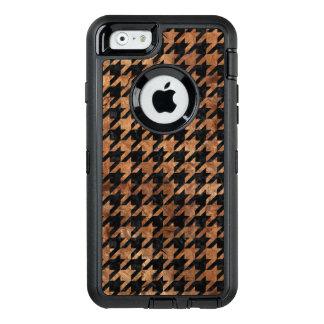 FUNDA OtterBox DEFENDER PARA iPhone 6 PIEDRA NEGRA DEL MÁRMOL HOUNDSTOOTH1 Y DE BROWN