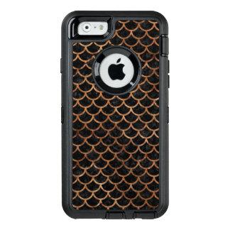 FUNDA OtterBox DEFENDER PARA iPhone 6 PIEDRA NEGRA DEL MÁRMOL SCALES1 Y DE BROWN