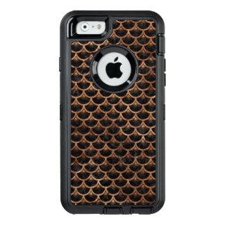 FUNDA OtterBox DEFENDER PARA iPhone 6 PIEDRA NEGRA DEL MÁRMOL SCALES3 Y DE BROWN