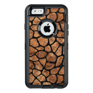 FUNDA OtterBox DEFENDER PARA iPhone 6 PIEDRA NEGRA DEL MÁRMOL SKIN1 Y DE BROWN