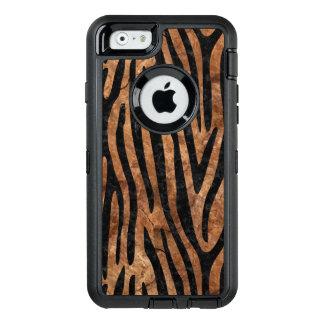FUNDA OtterBox DEFENDER PARA iPhone 6 PIEDRA NEGRA DEL MÁRMOL SKIN4 Y DE BROWN