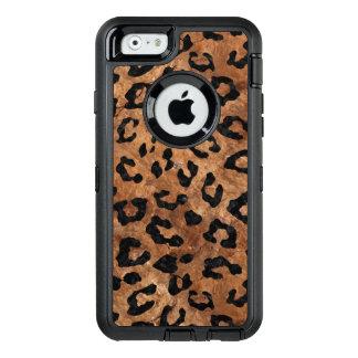 FUNDA OtterBox DEFENDER PARA iPhone 6 PIEDRA NEGRA DEL MÁRMOL SKIN5 Y DE BROWN