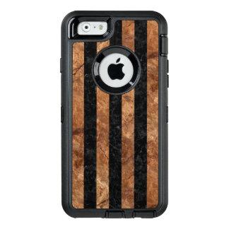 FUNDA OtterBox DEFENDER PARA iPhone 6 PIEDRA NEGRA DEL MÁRMOL STRIPES1 Y DE BROWN