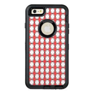 Funda OtterBox Defender Para iPhone 6 Plus Diamante-Rojo-Blanco