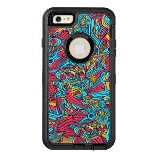 Funda OtterBox Defender Para iPhone 6 Plus Diseño abstracto dibujado mano colorida del modelo