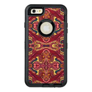 Funda OtterBox Defender Para iPhone 6 Plus Diseño rizado dibujado mano colorida abstracta del