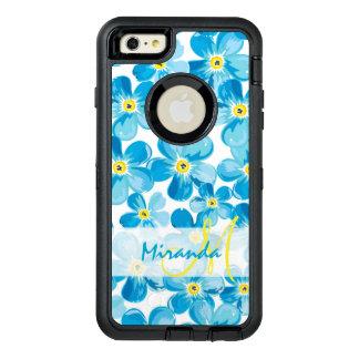 Funda OtterBox Defender Para iPhone 6 Plus El azul vibrante de la acuarela me olvida no