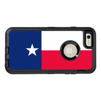 Funda OtterBox Defender Para iPhone 6 Plus Gráfico dinámico de la bandera del estado de Tejas