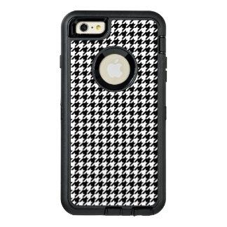 Funda OtterBox Defender Para iPhone 6 Plus Houndstooth blanco y negro