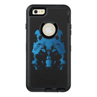 Funda OtterBox Defender Para iPhone 6 Plus Lobo de los azules claros del ilustracion