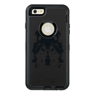 Funda OtterBox Defender Para iPhone 6 Plus Lobo negro del ilustracion
