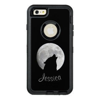 Funda OtterBox Defender Para iPhone 6 Plus Lobo que grita en la Luna Llena, su nombre