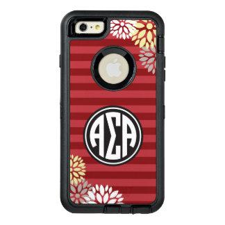 Funda OtterBox Defender Para iPhone 6 Plus Modelo alfa de la raya del monograma de la alfa el