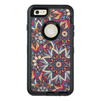Funda OtterBox Defender Para iPhone 6 Plus Modelo floral étnico abstracto colorido de la